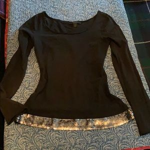 Black long sleeve top with bling